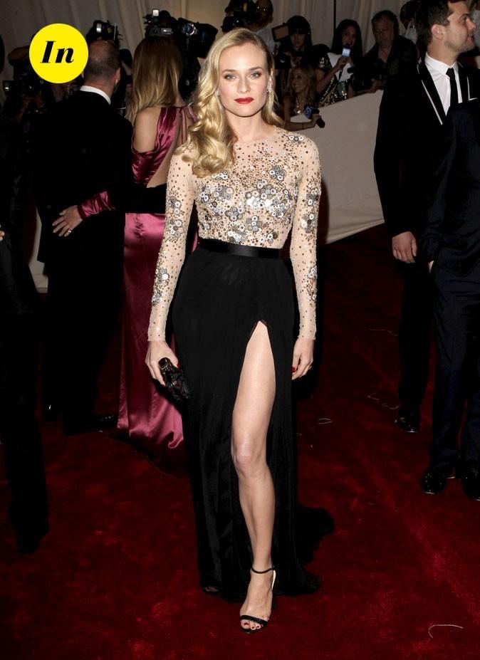 Photo look de star au MET Ball 2011 : la jupe longue + body Jason Wu de Diane Kruger