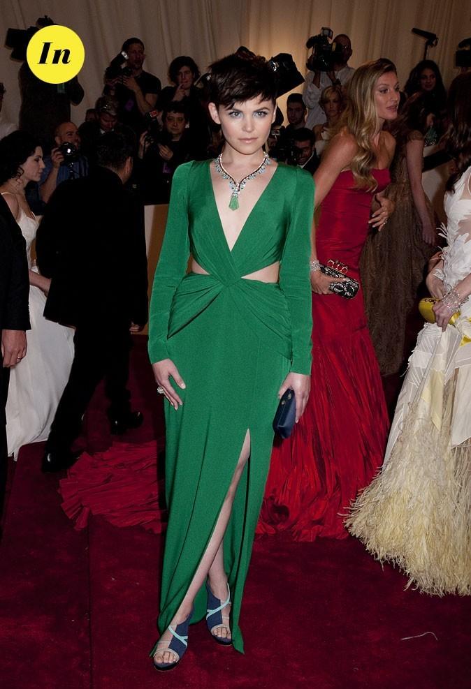 Photo look de star au MET Ball 2011 : la robe verte Topshop de Ginnifer Goodwin