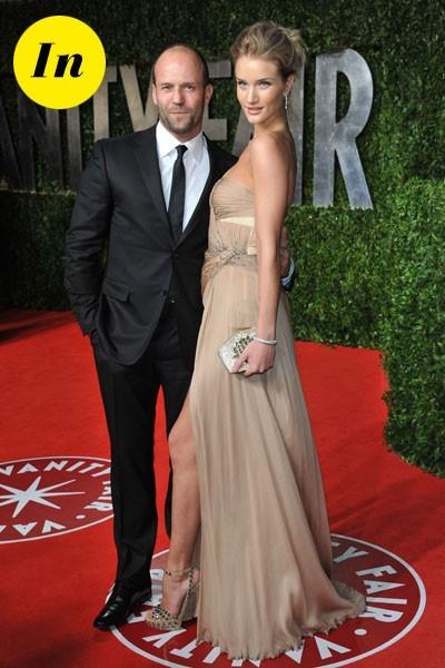Look de stars aux Oscars 2011 : Jason Statham en couple avec Rosie Huntington