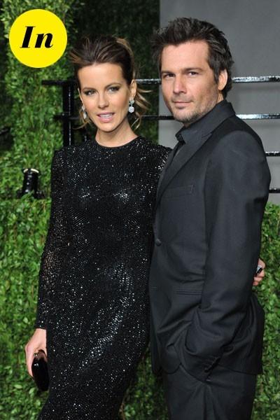 Look de stars aux Oscars 2011 : Kate Beckinsale en couple avec Len Wiseman