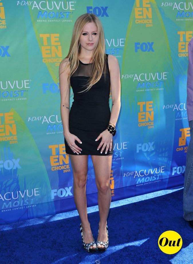 Le look d'Avril Lavigne aux Teen Choice Awards 2011 !