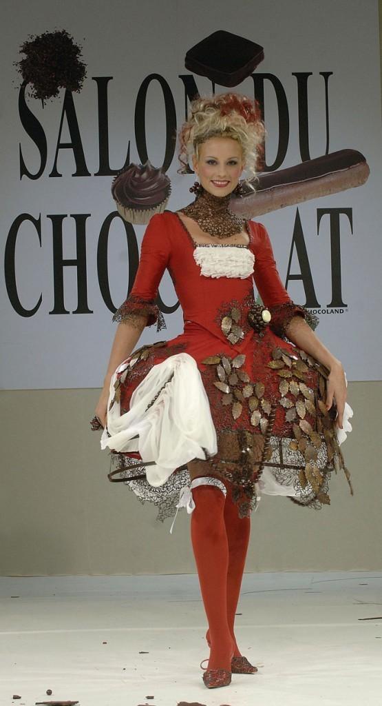 Salon du chocolat 2006 : Elodie Gossuin