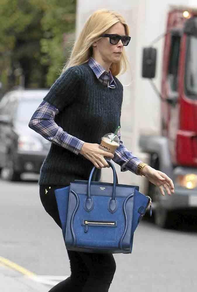 Claudia Schiffer a craqué pour le it bag Luggage de Céline