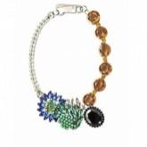 Collier de perles et à tête de léopard, Zara
