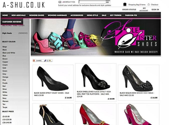 A-shu : un site de chaussures et de sacs à petits prix