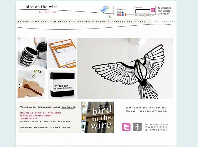 Bird On The Wire : un e-shop décalé !
