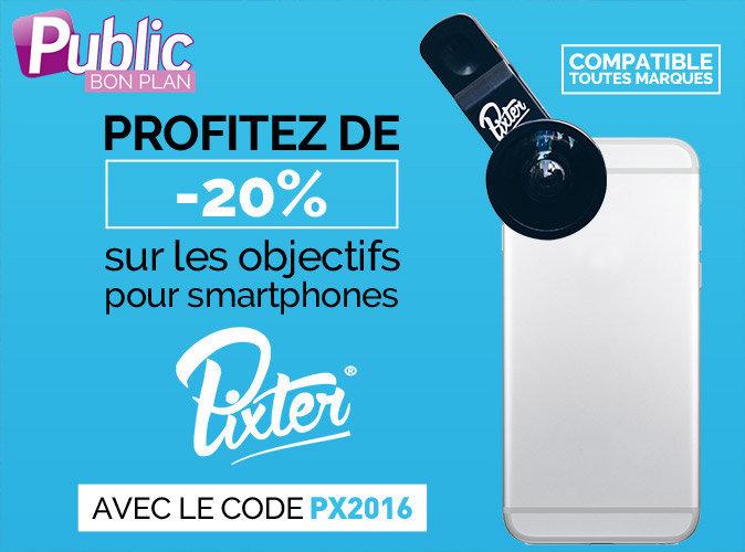 Bon plan : - 20% sur les objectifs pour smartphones Pixter !