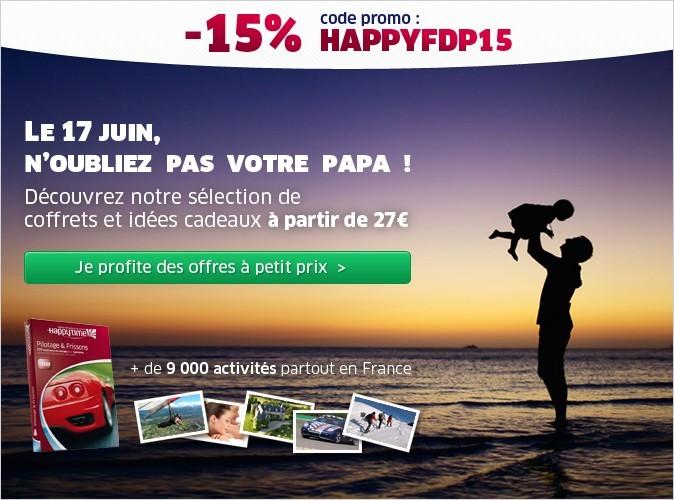 Bon plan Fête des Pères : 15% de réduction sur les coffrets Happytime.com !