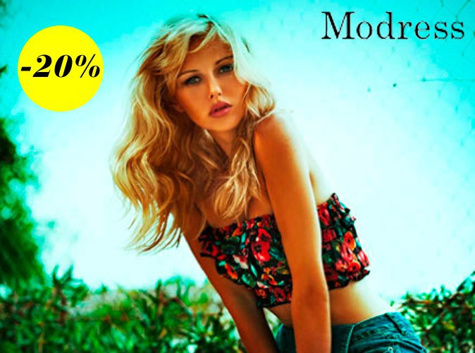 Bon plan mode : 20% de réduction sur le site Modress !
