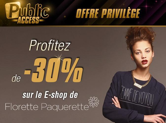 Bon plan : Public vous offre -30% sur le e-shop Florette Paquerette !
