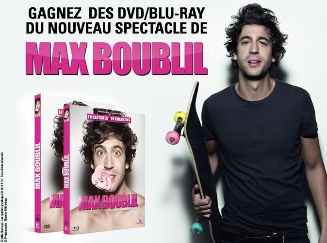 Grand jeu-concours : gagnez des Dvd/Blu-Ray du nouveau spectacle de Max Boublil !