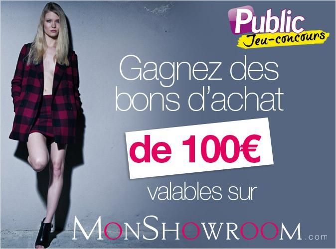 Jeu concours : gagnez un bon d'achat de 100€ valable 1 an pour monshowroom.com !