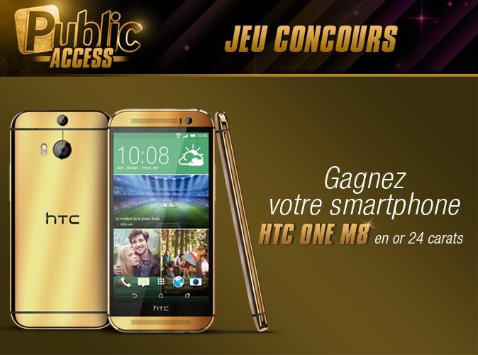 Jeu concours Public Access : gagnez votre smartphone HTC One M8 grâce à Public !