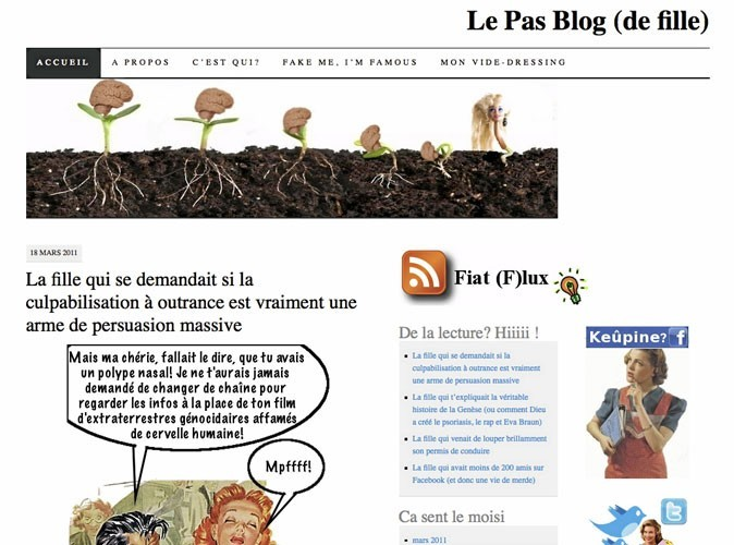 Le Pas Blog (de fille) : Un blog féminin mais pas girly !