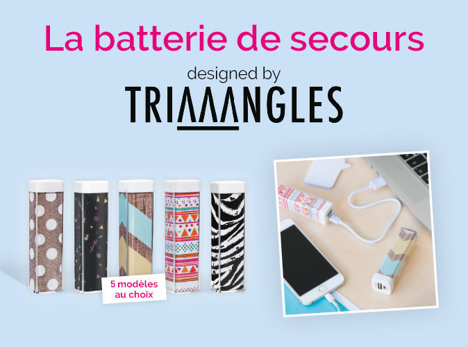 Offre exceptionnelle : votre batterie portable Triaaangles à petit prix !
