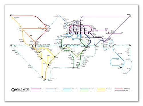 Poster Subway World - Zoom de Wall Edition