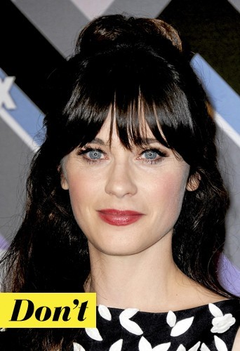 Don't : Les cils fournis de Zooey Deschanel