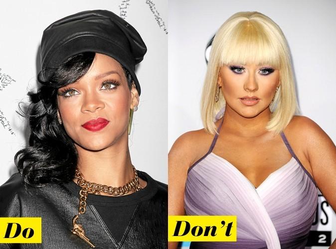 Les faux cils : Rihanna VS Christina Aguilera !