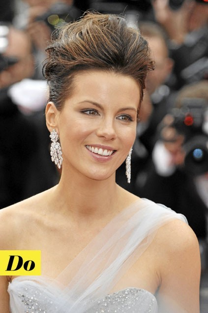 La coiffure coque de Kate Beckinsale : Do !
