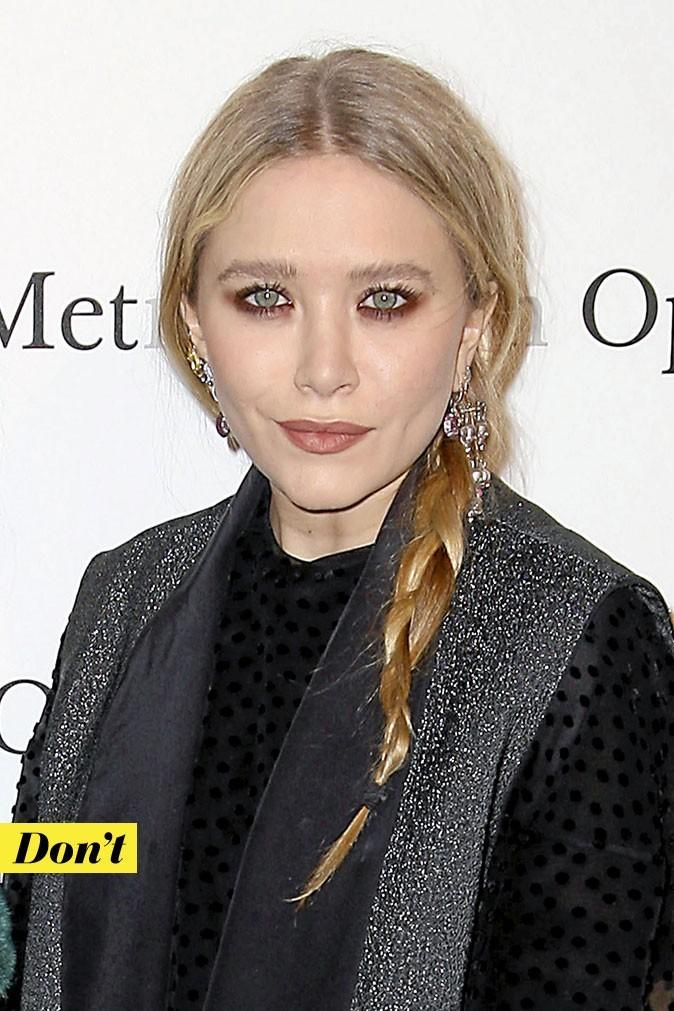 Coiffure de star : la tresse floue deMary-Kate Olsen