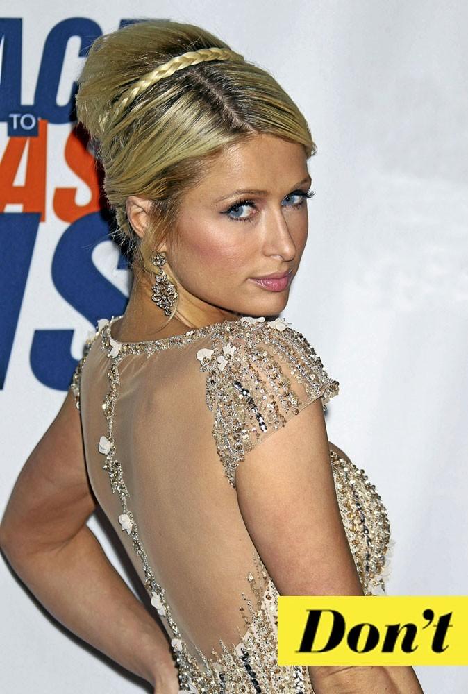 Coiffure de star : le chignon de Paris Hilton