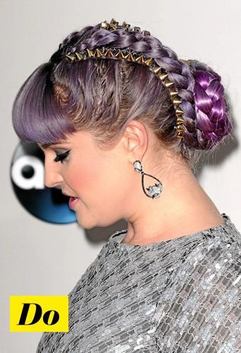 Copiez sans hésiter la coiffure bling réussie de Kelly Osbourne !
