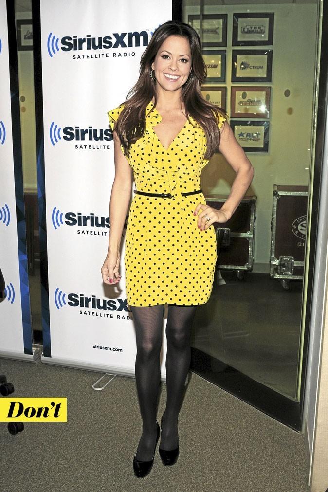 La robe à pois de Brooke Burke : Don't !