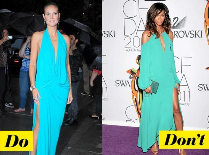 Look de star été 2011 : comment porter la robe turquoise décolletée ?
