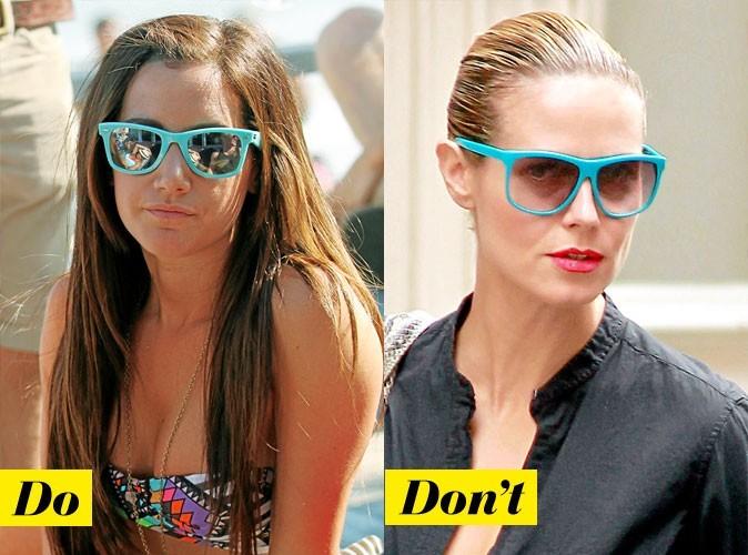 Look de star été 2011 : comment porter les lunettes bleues fluo ?