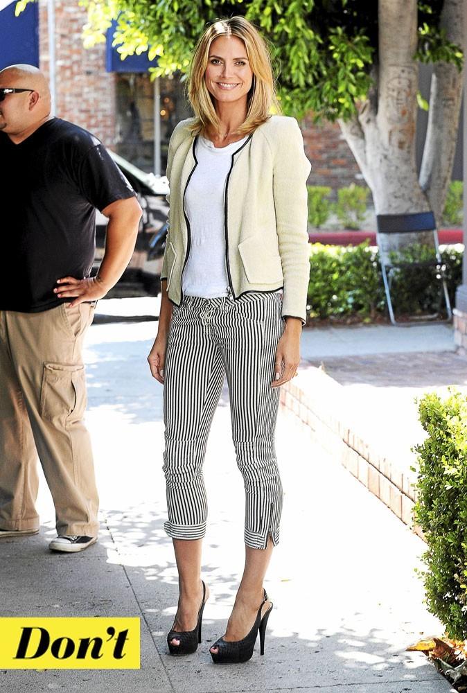 Le pantalon rayé Isabel Marant de Heidi Klum