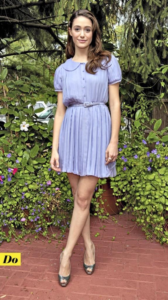 La robe col Claudine d'Emmy Rossum : Do !
