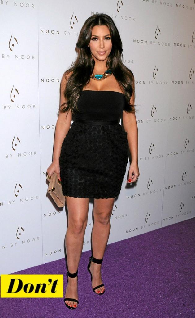 La petite robe noire de Kim Kardashian !