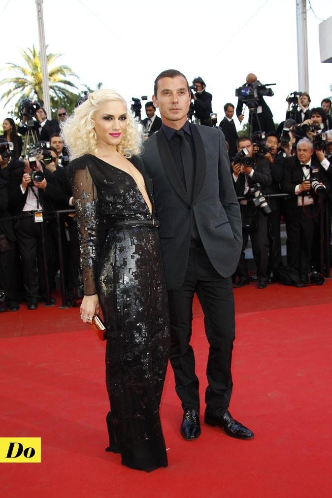 Gwen Stefani et sa longue robe décolleté noire