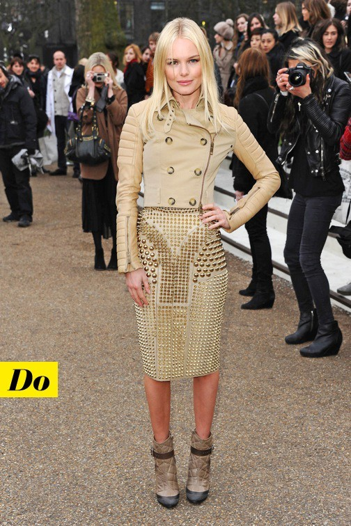 Kate Bosworth et son perfecto Burberry Prorsum