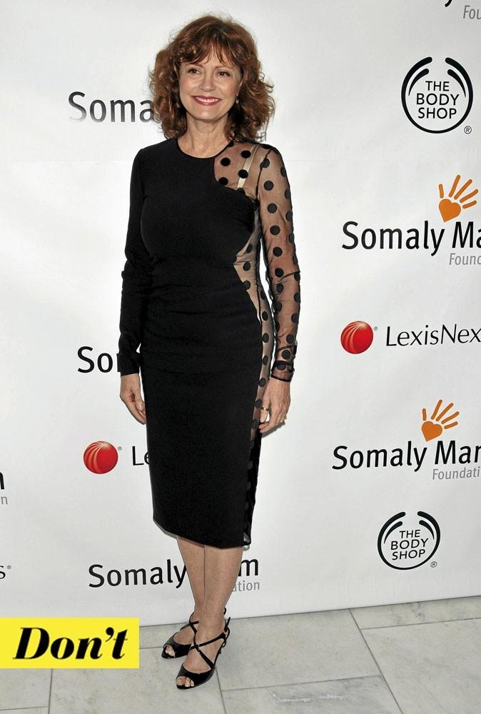 Susan Sarandon, trop âgée pour une robe si sexy