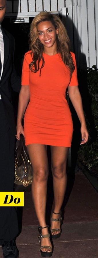 Beyoncé sexy en orange