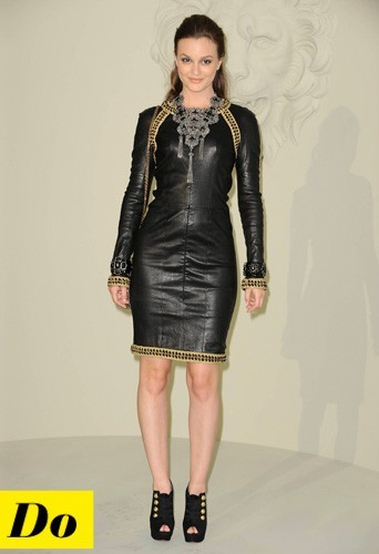 Leighton Meester et sa robe en cuir