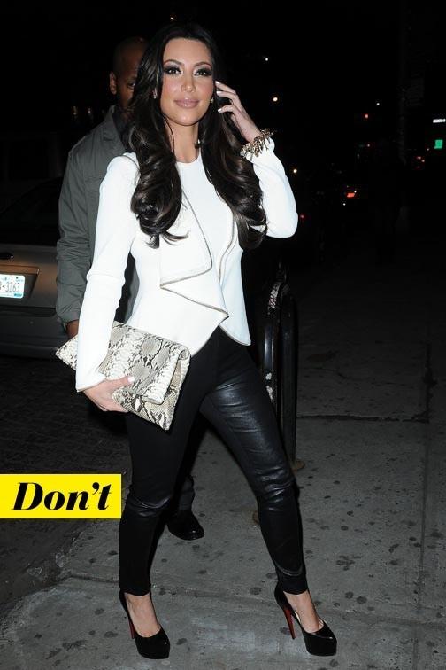 Trop cheap le mix des martières de Kim Kardashian et sa pochette Juliette Jake