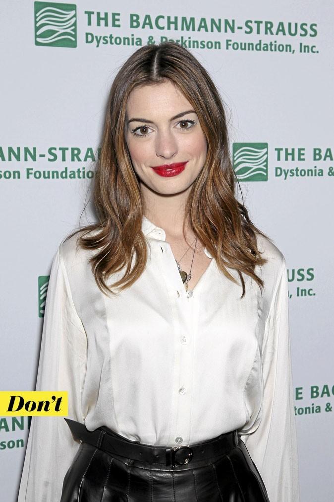 Le rouge à lèvres rouge d'Anne Hathaway : Don't !