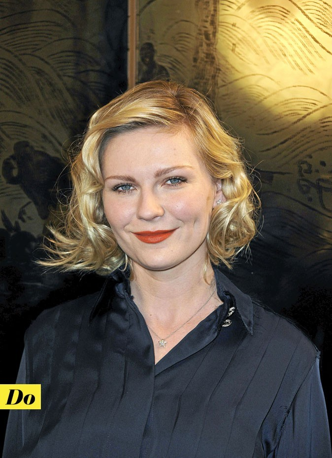 Maquillage de star : le rouge à lèvres orange de Kirsten Dunst