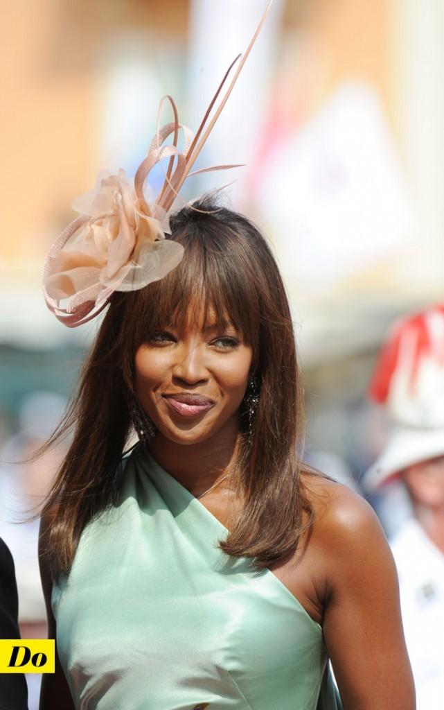 Mariage de Charlene Wittstock et Albert de Monaco : la coiffure de Naomi Campbell !