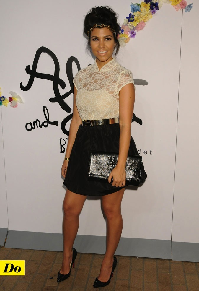 Mercedes-Benz Fashion Week 2011 : Kourtney Kardashian lors du défilé Alice and Olivia !