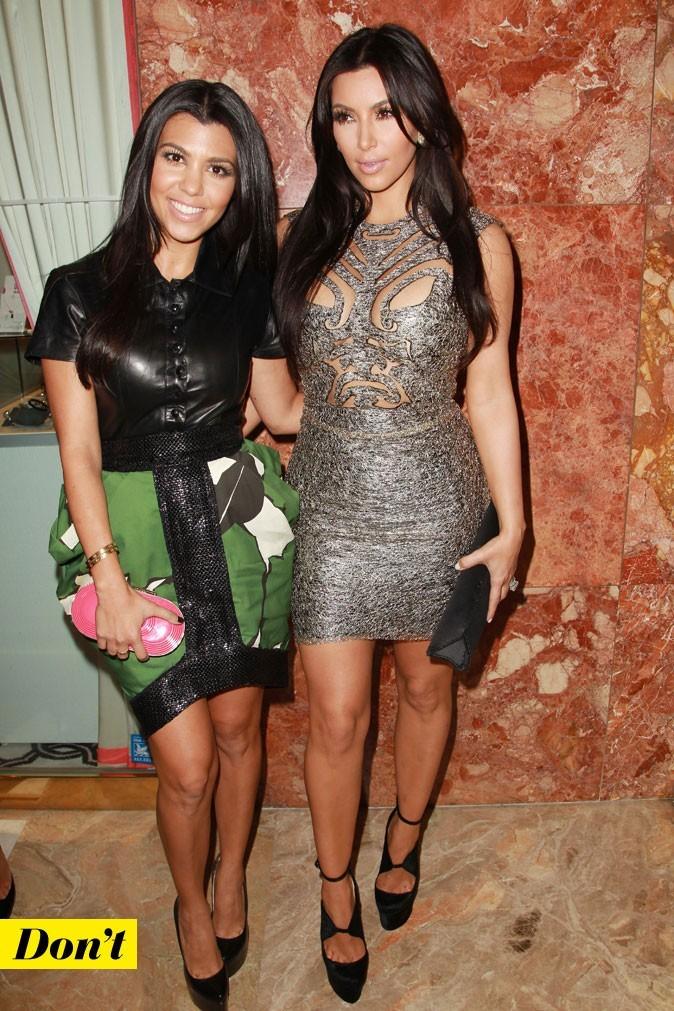Mercedes-Benz Fashion Week 2011 : les soeurs Kardashian lors du défilé Sherri Hill !