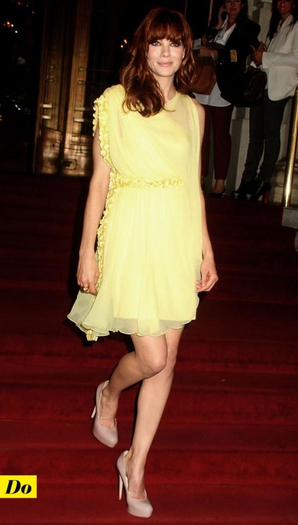 Mercedes-Benz Fashion Week 2011 : Michelle Monaghan lors du défilé Marchesa !
