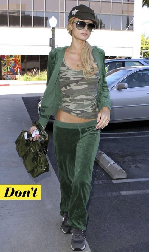 Tendance militaire : le top camouflage de Paris Hilton