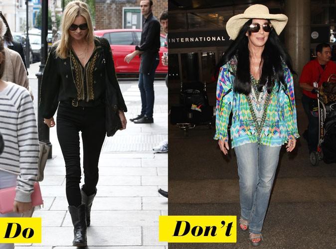 La tunique éthnique - Do : Kate Moss / Don't : Cher
