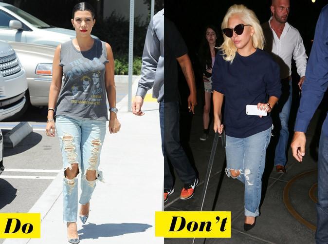 Le jean coupe droite destroyed - Do : Kourtney Kardashian / Lady Gaga