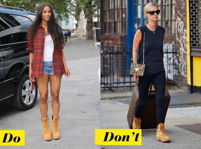 Les Timberland - Do : Ciara / Don't : Nikki Hilton