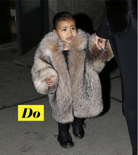 Do : North West et sa veste en fourrure