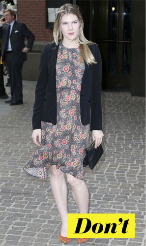 Don't : Lily Rabe et sa robe à fleurs